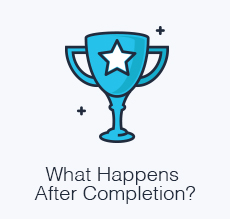 What happens after completion?